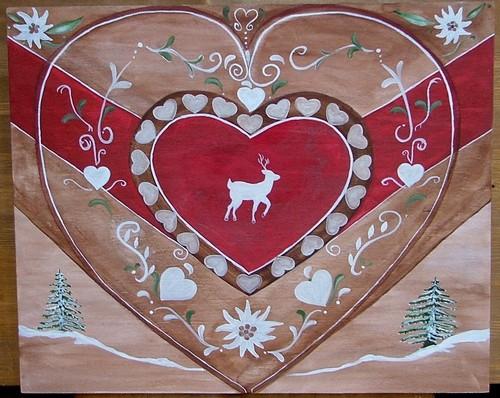 Nathalie renzacci d coration d 39 int rieur tableau en bois - Decoration coeur en bois ...