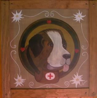 renzacci.fr/galeries/peinture-paysanne/peinture-paysanne-tableau-en-bois-portrait-de-chien-tete-de-chien-le-saint-bernard