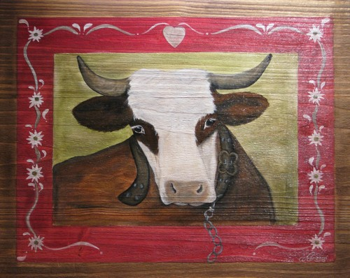 Country Painting Portrait of Cow : Innocente